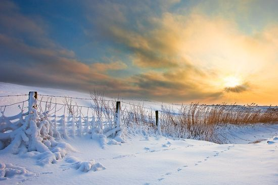 photographies de paysages en hiver.